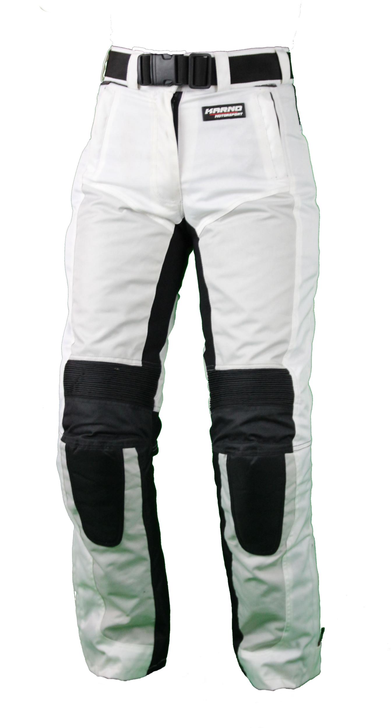 kt304 pantalon moto textile femme blanc karno white pearl pantalon pantalons femme textile. Black Bedroom Furniture Sets. Home Design Ideas