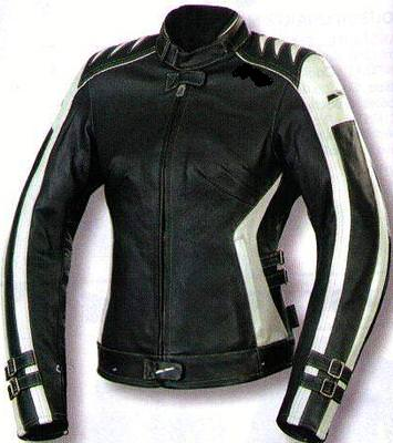 Veste en cuir noir femme motard