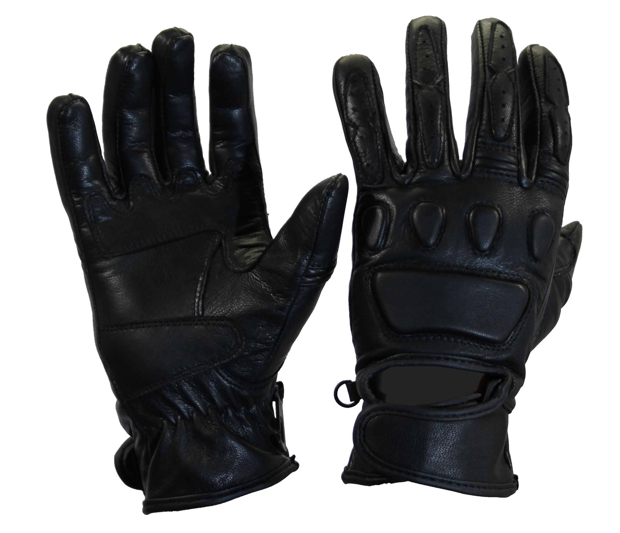 Kc411_1_Gants moto été noirs