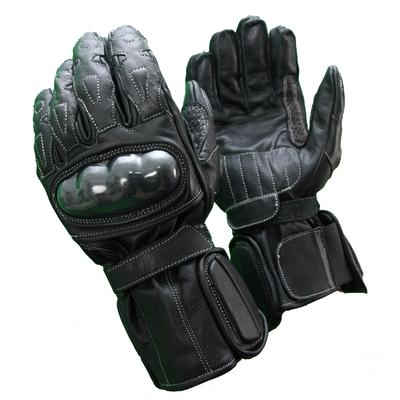 Kc406_1 gants moto cuir noirs