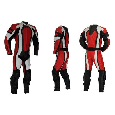 Kc208_X3 combinaison moto piste rouge
