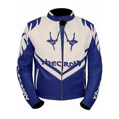 Blouson moto cuir homme bleu