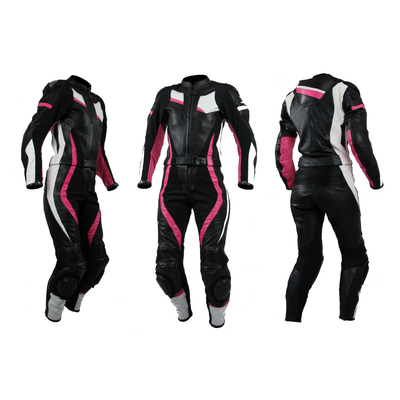 Kc213_4 combinaison moto femme rose