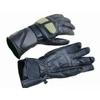 Kc408 Gants moto mi-saison cuir noir KARNO-MOTORSPORT, coutures renforcées