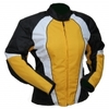 Kt012 Blouson moto FEMME KARNO cintré TYPHOON jaune - doublure amovible