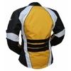Kt012_2 Blouson moto femme jaune