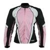 Kt007_1 blouson moto femme textile rose