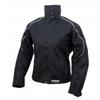 Kt015 Blouson moto textile FEMME noir KARNO - doublure HIVER amovible