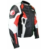 Kc024 Blouson veste cuir moto KARNO rouge - PHANTOM - doubl. hiver amovible