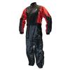 Combinaison moto ou quad anti-pluie noire et rouge