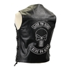 Gilet sans manches cuir Skull RIDE TO LIVE