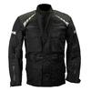 Veste moto textile noire étanche Karno GYRE - Spéciale conditions difficiles