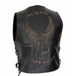 Kc502 GILET boléro cuir noir KARNO aigle USA eagle Style