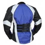 Kt011_2 blouson moto femme bleu