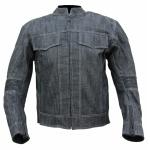 Kt006_1 blouson moto en jeans denim
