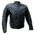 Kc023 Blouson cuir moto noir KARNO-MOTORSPORT - CAFE RACER