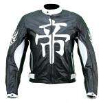 Kc002 Blouson cuir moto quad KARNO DEMON JAPAN noir - protections amovibles