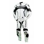 Kc204 Combinaison moto KARNO-MOTORSPORT cuir blanc RACE - 2 parties