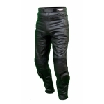 Kc302 pantalon moto quad RACING cuir noir KARNO - SLIDERS INCLUS