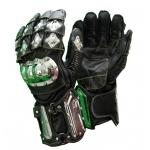 Kc400 gants moto quad cuir noir  KARNO-MOTORSPORT protections métal