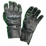 Kc401 Gants moto cuir noir KARNO RACING - protections carbone