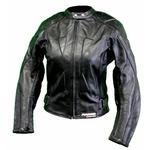 Kc033 Veste moto unie femme cuir noir Karno-Motorsport