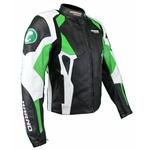 Kc029 Blouson veste cuir moto KARNO vert - PHANTOM - doubl. hiver amovible