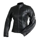 Kc039 Blouson moto cuir femme noir LISA Karno-Motorsport