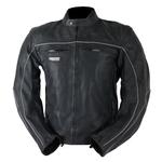 Kd009 Blouson moto cuir noir vieilli Karno-Motorsport