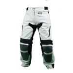 Kd008 Pantalon moto textile en cordura 600M noir et blanc Karno-Motorsport