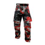Kt310 Pantalon moto quad treillis rouge camouflage militaire MARPAT Urban red