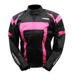 Kt021 Blouson moto femme lady spirit pink rose fluo