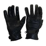 Kc411 Gants de moto été CE en cuir noir Karno-Motorsport