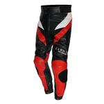 Kc310 Pantalon moto cuir S-EDITION rouge