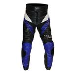Kc309 Pantalon moto cuir S-EDITION bleu