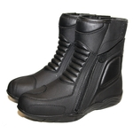 Bottines moto cuir noir Karno-Motorsport CUPRA waterproof