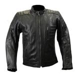 Blouson moto en cuir noir Karno Vintage URBANE