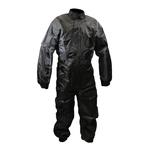 Combinaison de protection pluie moto ou quad noir et gris étanche