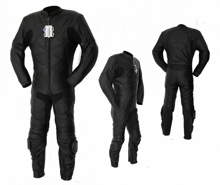 kc207 combinaison moto piste 1 pi ce karno cuir noir dark devil. Black Bedroom Furniture Sets. Home Design Ideas