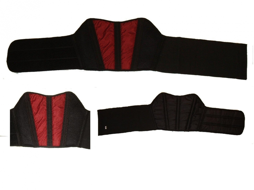 Kt502 ceinture lombaire dorsale moto karno rouge s curit motard accessoires protections - Ceinture dorsale homme ...