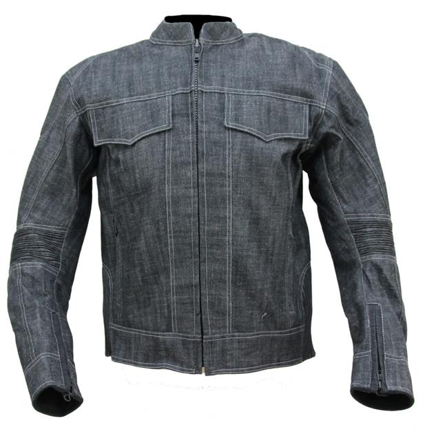 kt006 blouson moto en jean 39 s denim gris karno motorsport. Black Bedroom Furniture Sets. Home Design Ideas