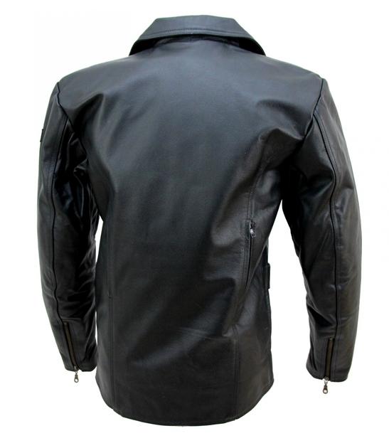 manteau moto ou mode karno cuir bovin noir doubl hiver amovible. Black Bedroom Furniture Sets. Home Design Ideas