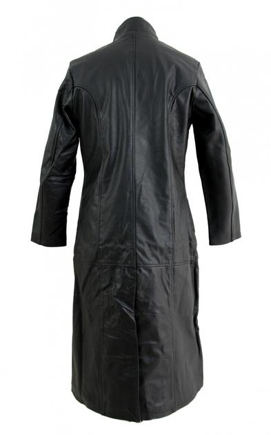 kc019 manteau long cuir noir karno style matrix gothique. Black Bedroom Furniture Sets. Home Design Ideas