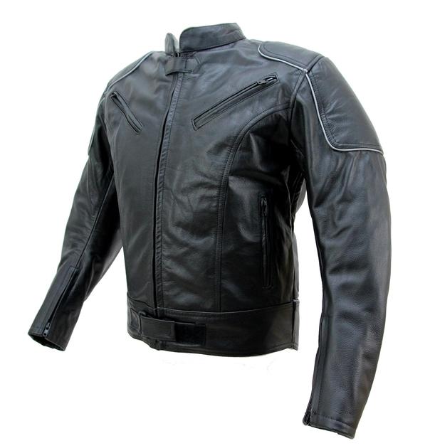 kc023 blouson cuir moto noir karno motorsport cafe racer vetement moto homme blouson moto. Black Bedroom Furniture Sets. Home Design Ideas