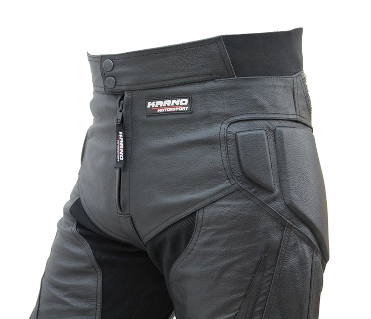 kc305 pantalon moto quad racing cuir noir karno venom style sliders inclus vetement moto