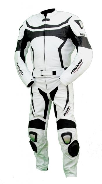 kc204 combinaison moto karno motorsport cuir blanc race. Black Bedroom Furniture Sets. Home Design Ideas