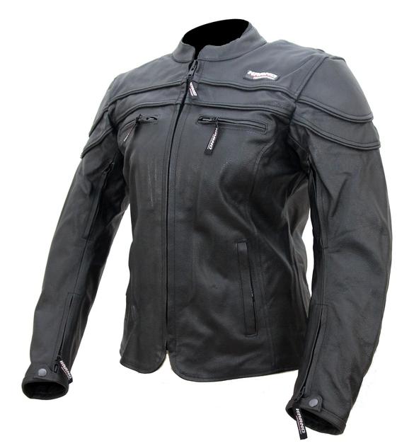 kc031 blouson moto cuir femme noir karno motorsport doublure hiver amovible blousons moto. Black Bedroom Furniture Sets. Home Design Ideas