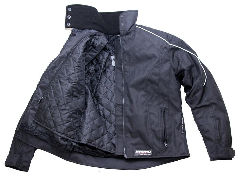 kt015 blouson moto textile femme noir karno doublure hiver amovible vetement moto femme. Black Bedroom Furniture Sets. Home Design Ideas