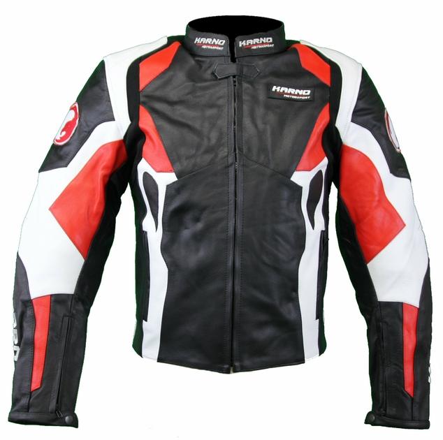 kc024 blouson veste cuir moto karno rouge phantom. Black Bedroom Furniture Sets. Home Design Ideas