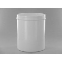 Pot plastique blanc H16.5cm (lot de 6)